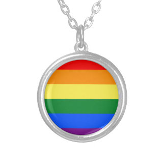 Rainbow Round Pendant Necklace