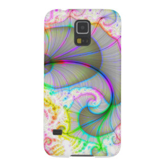 Rainbow Shell Spiral Galaxy S5 Cases