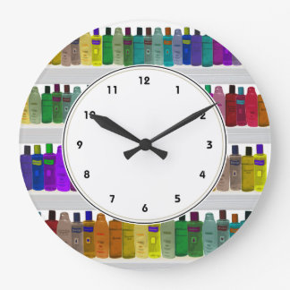 Rainbow Soap Bottles Colorful bathroom clock