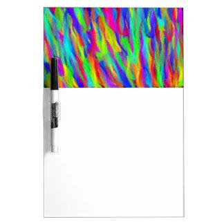 Rainbow Streaks Dry Ease Board Dry Erase Board