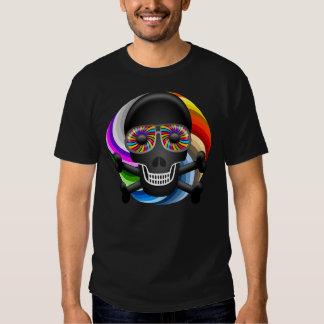 Rainbow Sugar Skull Tee Shirt
