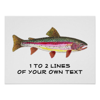 Rainbow Trout Painting Poster