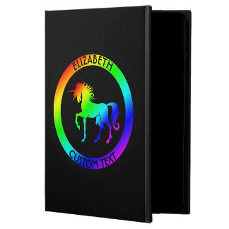 Rainbow Unicorn In Black Circles