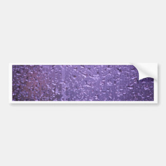 Raindrops on Window in Purple Bumper Sticker
