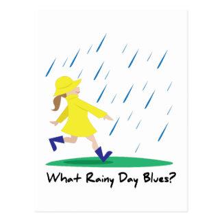 Rainy Day Bllues Postcard
