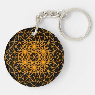 """Raise The Chakra """"Creation"""" Double-Sided Round Acrylic Key Ring"""