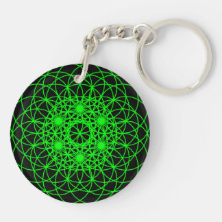 "Raise The Chakra ""Love"" Double-Sided Round Acrylic Key Ring"