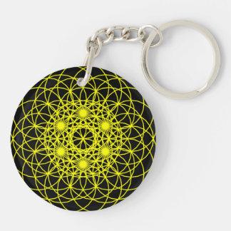 "Raise The Chakra ""Positivity"" Double-Sided Round Acrylic Key Ring"