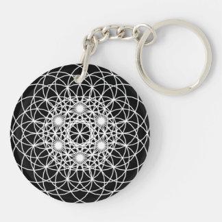 """Raise The Vibration """"Energy"""" Double-Sided Round Acrylic Key Ring"""