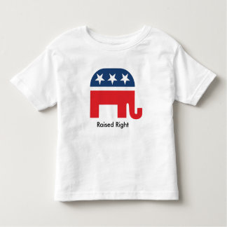 Raised Right Funny Republican Kids Youth Shirt