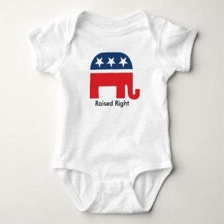Raised Right Republican Elephant Unisex Baby Shirt