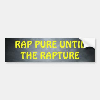 Rap Pure Until the Rapture Christian Hip Hop Bumper Sticker