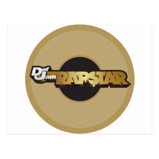 Rapstar Vinyl Postcard