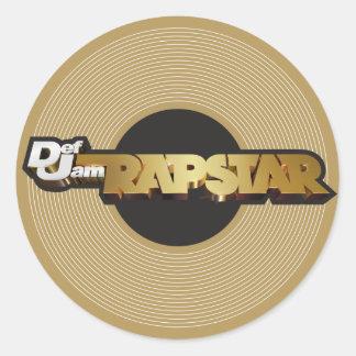 Rapstar Vinyl Round Sticker