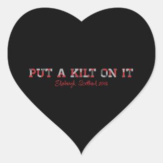 RARE16 Kilt heart sticker