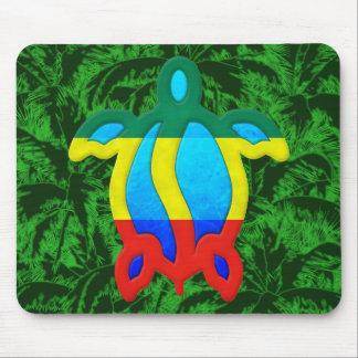 Rasta Honu Palm Trees Mouse Pad