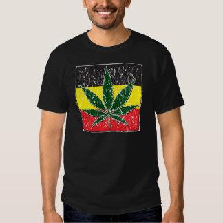 Rasta Pot Leaf Tshirt