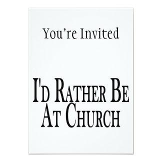 Rather Be At Church 13 Cm X 18 Cm Invitation Card