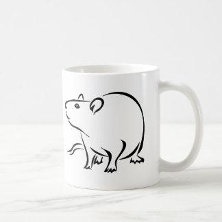 Rattitude, The Rat Lady Basic White Mug