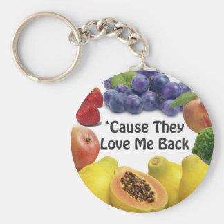 Raw Food Love Keychain