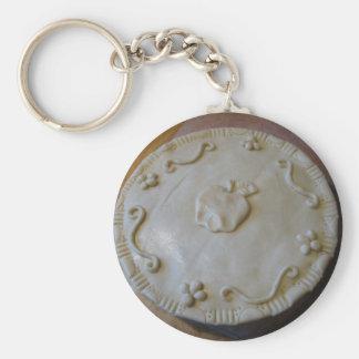 Raw Pie Basic Round Button Key Ring