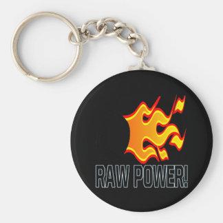 Raw Power Basic Round Button Key Ring