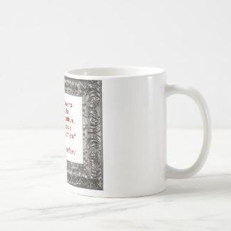 Ray Bradbury Quote About Burning Books Basic White Mug