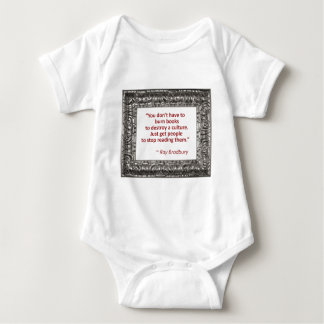 Ray Bradbury Quote About Burning Books Tee Shirts