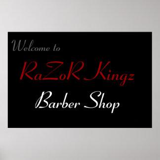 RaZoR Kingz Barber Shop Promotional Poster