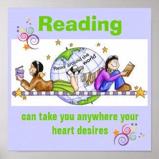 Read Around the World Literacy Poster