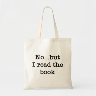 Read the book budget tote bag