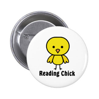Reading Chick 6 Cm Round Badge