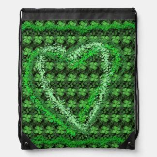 Real Clovers with Heart St Patrick's Day Backpack