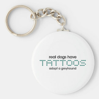 Real Dogs Have Tattoos Basic Round Button Key Ring