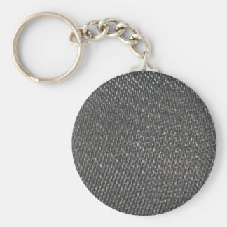Real RAW Carbon Fiber Textured Basic Round Button Key Ring