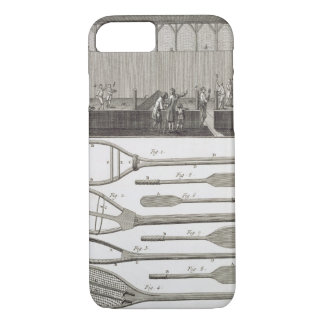Real tennis and the construction of racquets, from iPhone 7 case