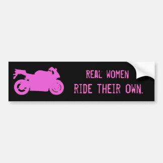 Real Women Ride Bumper Sticker