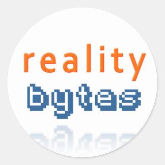 Reality Bytes Round Sticker