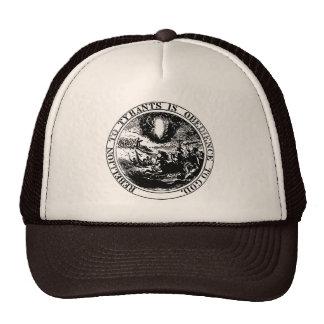 Rebellion to Tyrants Posterized black / white Cap
