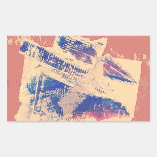Rectangular seal and gloss finish rectangular sticker