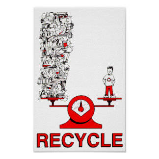 Recycle Trash Poster
