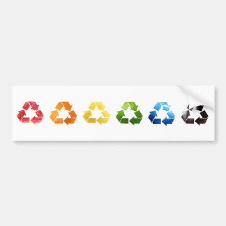 Recycling Fruit and Veggies Rainbow Bumper Sticker