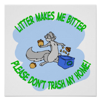 recycling squirrel poster