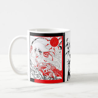 Red and Black and Whtie Mug