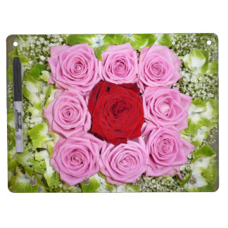 Red and Pink Roses  Dry Erase Board