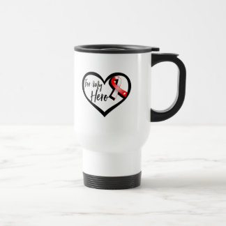 Red and White Ribbon For My Hero Stainless Steel Travel Mug