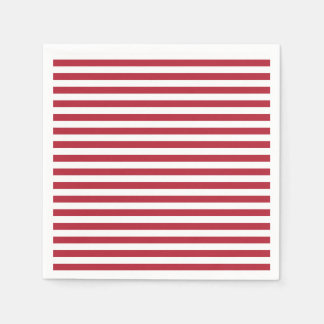 Red and White Stripe Napkins Disposable Napkins