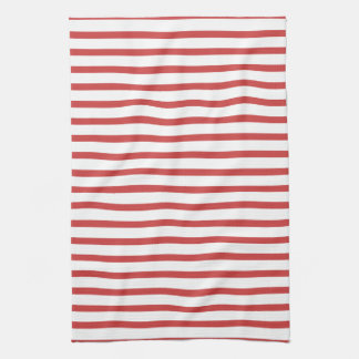 Red and White Stripes Towel