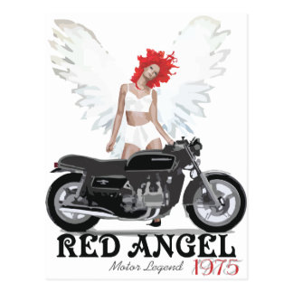 Red Angel Cafe Racer Motor Legend Postcard
