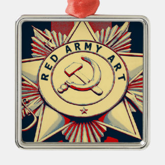 RED ARMY ART Silver-Colored SQUARE DECORATION